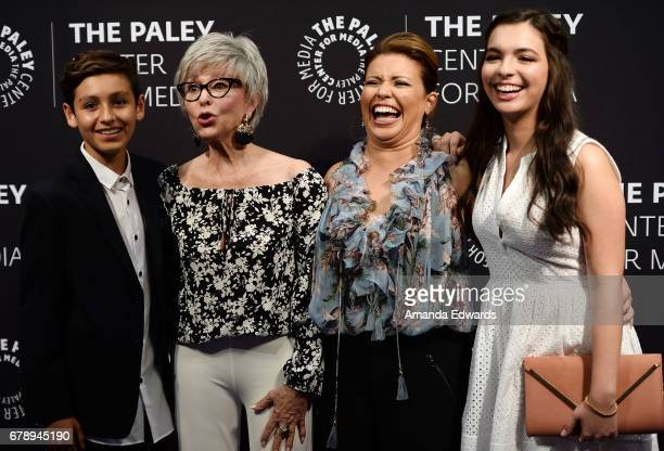Actors Marcel Ruiz Rita Moreno Justina Machado and Isabella Gomez arrive at the 2017 PaleyLive LA Spring Season An Evening With 'One Day At A Time'...