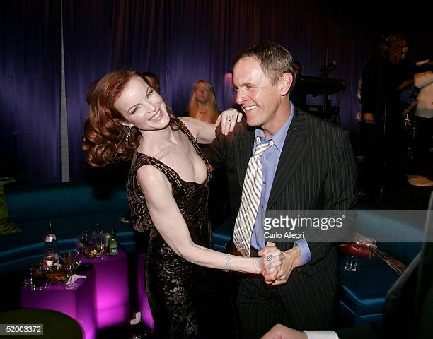 Actors Marcia Cross and Mark Moses dance at the InStyle Golden Globe After Party at the Beverly Hilton Hotel on January 16, 2005 in Beverly Hills,...