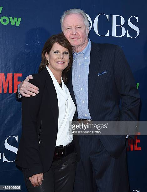 Actors Marcia Gay Harden and Jon Voight arrive at CBS, CW And Showtime 2015 Summer TCA Party at Pacific Design Center on August 10, 2015 in West...