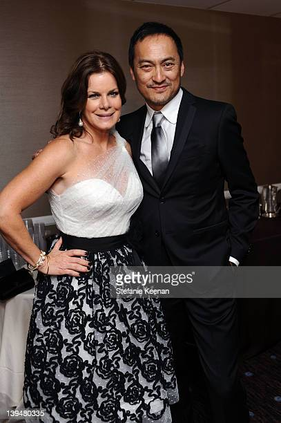 Actors Marcia Gay Harden and Ken Watanabe attend the 14th Annual Costume Designers Guild Awards With Presenting Sponsor Lacoste held at The Beverly...