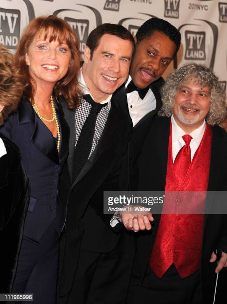 Actors Marcia Strassman John Travolta Lawrence HiltonJacobs and Robert Hegyes attend the 9th Annual TV Land Awards at the Javits Center on April 10...