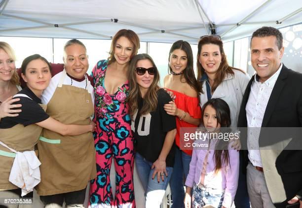 Actors Marco Antonio Regil Alicia Machado Daniella Monet Kate Del Castillo Patricia De Leon and the winners of the Best Vegan Chilaquiles attend PETA...