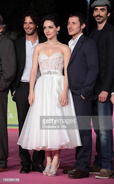 """Actors Marco Bocci, Valentina Corti and Michele Alhaique attend """"K2 La Montagna degli Italiani"""" Premiere during the 2012 RomaFictionFest at..."""