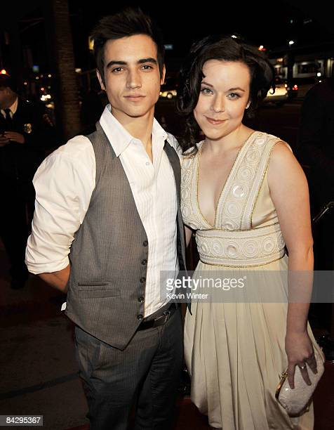 Actors Marco James and Tina Majorino arrive at the premiere of HBO's Big Love 3rd season at the Cinerama Dome on January 14 2009 in Los Angeles...