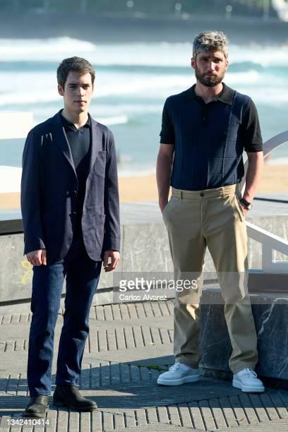 "Actors Marcos Ruiz and Chechu Salgado attend ""Las Leyes de La Frontera"" photocall during 69th San Sebastian International Film Festival at Kursaal..."
