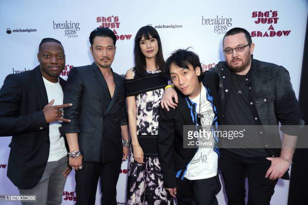Actors Marcus Johnson Kentez Asaka Tao Okamoto Kihiro and director Adam Sherman attend the premiere of Breaking Glass Pictures' 'She's Just A Shadow'...