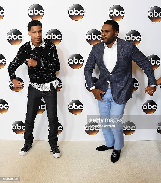 Actors Marcus Scribner and Anthony Anderson attend the Disney ABC Television Group TCA Summer Press Tour on August 4, 2016 in Beverly Hills,...
