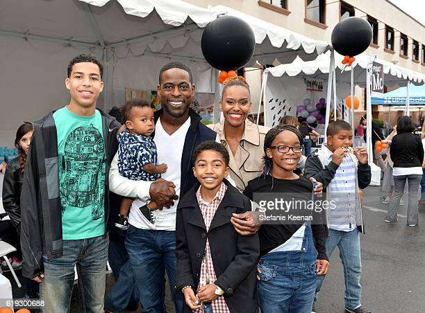 Actors Marcus Scribner Sterling K Brown Miles Brown Ryan Michelle Bathe and Marsai Martin attend FirstEver GOOD Foundation Halloween Bash hosted by...