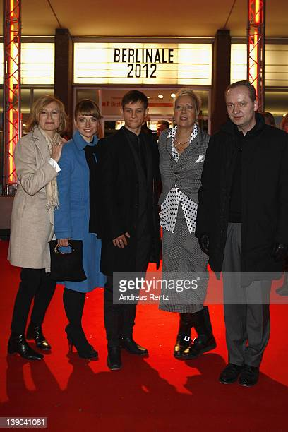 "Actors Maren Kroymann, Christina Grosse, Vinzenz Kiefer and director Doris Doerrie attend the ""Bliss"" Premiere during day seven of the 62nd Berlin..."