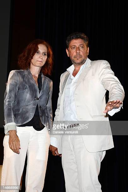 Actors Margaret Mazzantini and Sergio Castellitto attend the 'Premio Cariddi Alla Famiglia Castellitto' during the 58th Taormina Film Fest on June 22...