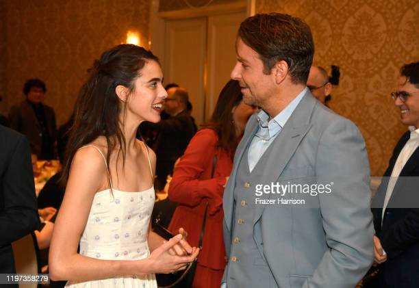 Actors Margaret Qualley and Bradley Cooper attend the 20th Annual AFI Awards at Four Seasons Hotel Los Angeles at Beverly Hills on January 03, 2020...