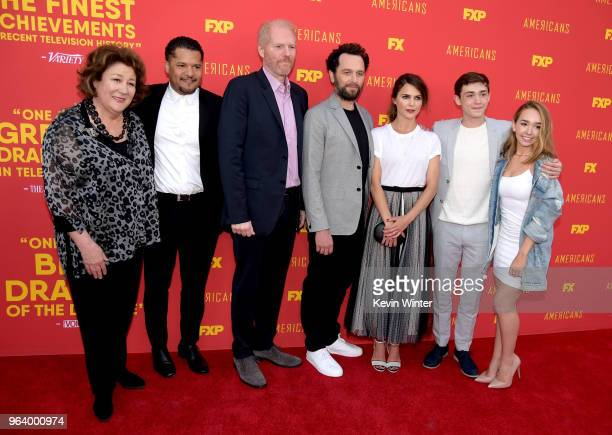 Actors Margo Martindale Brandon J Dirden Noah Emmerich Matthew Rhys Keri Russell Keidrich Sellati and Holly Taylor arrive at the For Your...