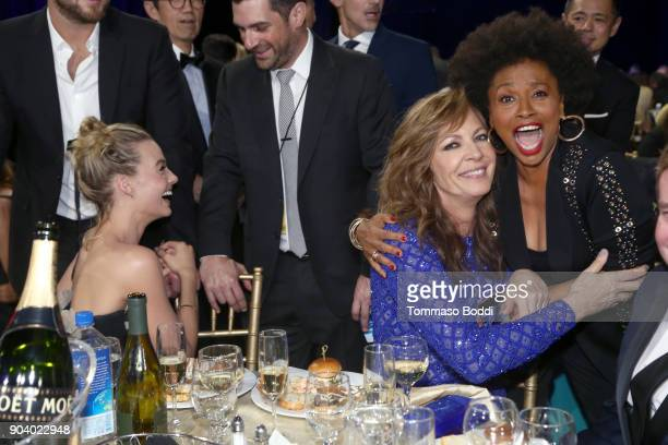 Actors Margot Robbie Allison Janney and Jenifer Lewis attend the 23rd Annual Critics' Choice Awards on January 11 2018 in Santa Monica California