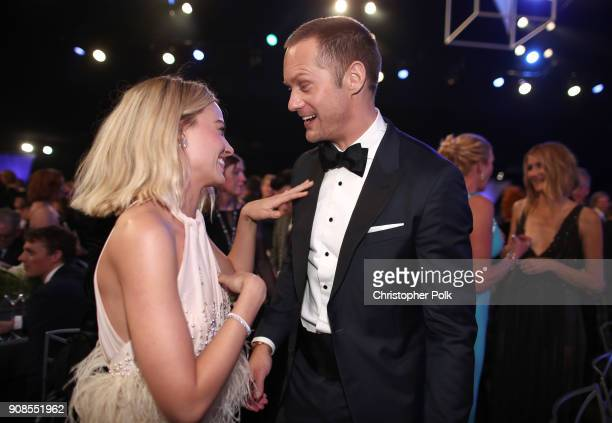 Actors Margot Robbie and Alexander Skarsgard attend the 24th Annual Screen Actors Guild Awards at The Shrine Auditorium on January 21 2018 in Los...