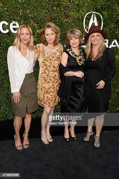 Actors Maria Bello Amy Redford Sundance Institute board chair Pat Mitchell and CEO and founder of The Communication Group Clare Munn attend the 2015...