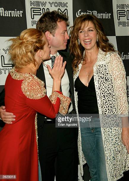 Actors Maria Bello Greg Kinnear and Rita Wilson at the Auto Focus screening during the 40th Annual New York Film Festival at Alice Tully Hall Lincoln...