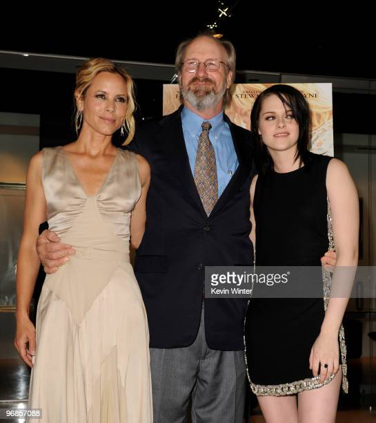 Actors Maria Bello William Hurt and Kristen Stewart attend the premiere of Samuel Goldwyn Films' The Yellow Handkerchief at the Pacific Design Center...