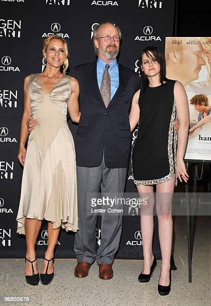 Actors Maria Bello William Hurt and Kristen Stewart attend the The Yellow Handkerchief Los Angeles premiere at Pacific Design Center on February 18...