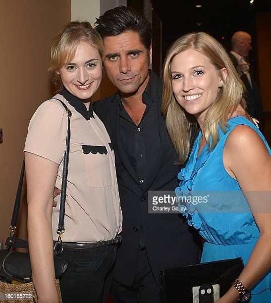 Actors Maria Blasucci John Stamos and Amanda Lund attend the Yahoo Fall Comedy Launch at the Linwood Dunn Theater on September 9 2013 in Los Angeles...