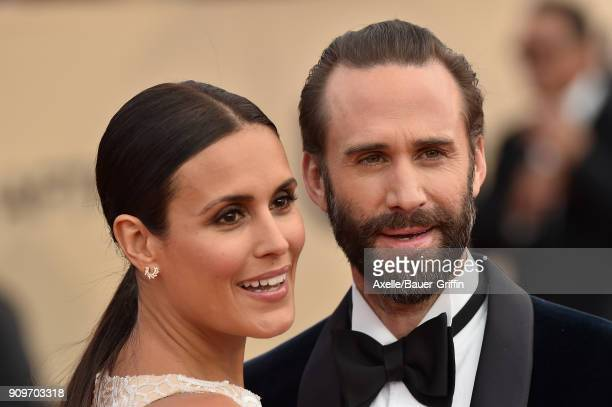 Actors Maria Dolores Dieguez and Joseph Fiennes attend the 24th Annual Screen Actors Guild Awards at The Shrine Auditorium on January 21 2018 in Los...