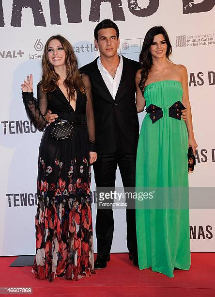 Actors Maria Valverde Mario Casas and Clara Lago attend the premiere of 'Tengo Ganas de Ti' at Callao Cinema on June 20 2012 in Madrid Spain