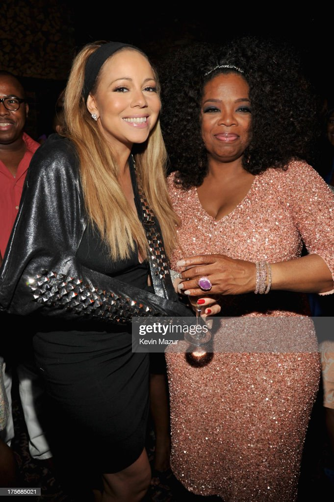 Actors Mariah Carey (L) and Oprah Winfrey attend Lee Daniels' 'The Butler' New York premiere, hosted by TWC, DeLeon Tequila and Samsung Galaxy on August 5, 2013 in New York City.