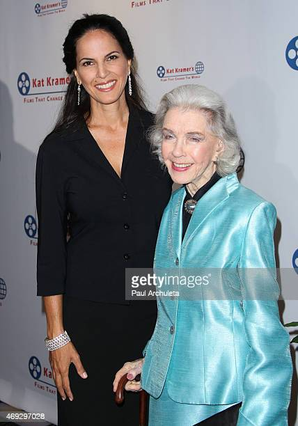 Actors Mariana Tosca and Marsha Hunt attend the 7th Annual Annual Films That Change The World with the screening of Bhopal A Prayer For Rain at The...