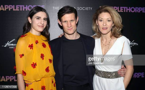 Actors Marianne Rendon Matt Smith and director Ondi Timoner attend the special screening of Mapplethorpe hosted by Samuel Goldwyn Films with The...
