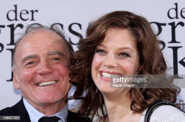 Actors Marie Baeumer and Bruno Ganz attend the premiere of the film 'Der Grosse Kater' at Bavarian parliament on October 25 2010 in Munich Germany