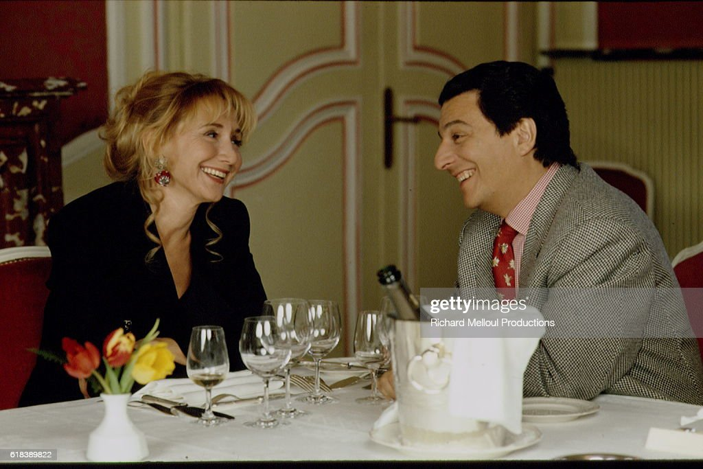 Actors Marie-Anne Chazel and Christian Clavier at Esclimont Castle : Photo d'actualité
