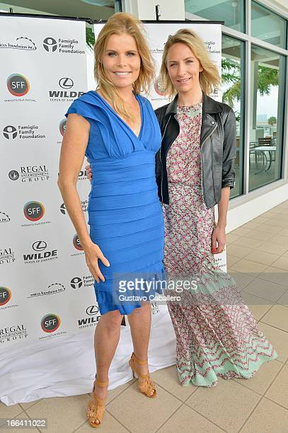 Actors Mariel Hemingway and Mickey Sumner walk the red carpet for Tribute Luncheon during the Sarasota Film Festival 2013 at Sarasota Yacht Club on...