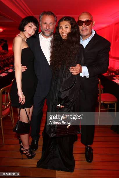Actors Mariko Wordell Michael Nyqvist Ayako Yoshida and Michel Comte attend 'The Girl From Nagasaki' Dinner hosted by Michel Comte at Hotel Du Cap...