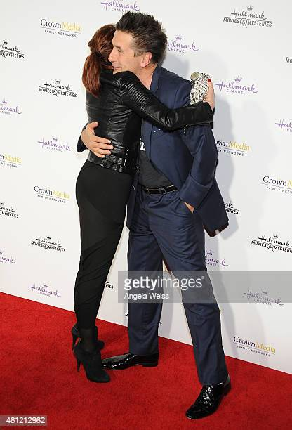 Actors Marilu Henner and William Baldwin arrive at Hallmark Channel Hallmark Movie Channel's 2015 Winter TCA party at Tournament House on January 8...