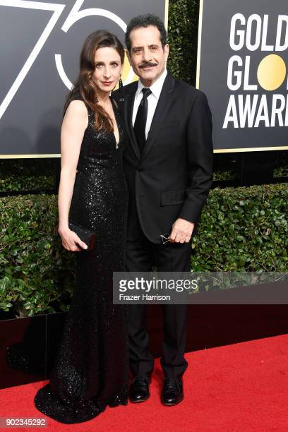 Actors Marin Hinkle and Tony Shalhoub attends The 75th Annual Golden Globe Awards at The Beverly Hilton Hotel on January 7 2018 in Beverly Hills...