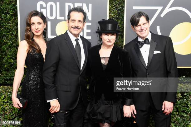 Actors Marin Hinkle and Tony Shalhoub producers Amy ShermanPalladino and Daniel Palladino attend The 75th Annual Golden Globe Awards at The Beverly...