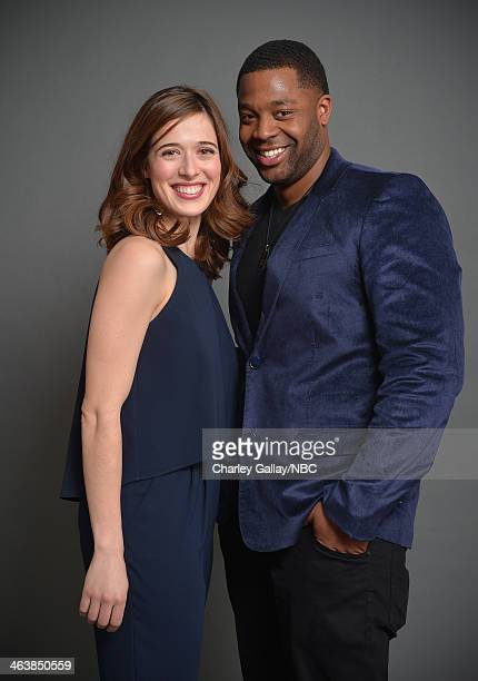 Actors Marina Squerciati and LaRoyce Hawkins attend the 2014 NBCUniversal TCA Winter Press Tour Portraits at Langham Hotel on January 19 2014 in...