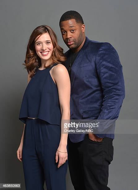 Actors Marina Squerciati and LaRoyce Hawkins attend the 2014 NBCUniversal TCA Winter Press Tour Portraits at Langham Hotel on January 19, 2014 in...