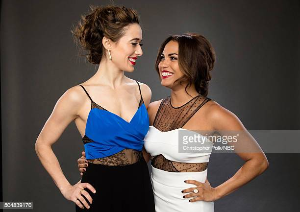Actors Marina Squerciati and Monica Raymund pose for a portrait during the NBCUniversal Press Day at The Langham Huntington Pasadena on January 13...