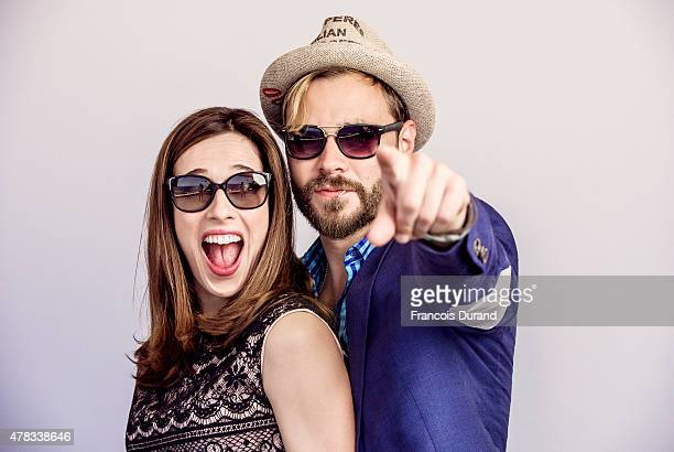 Actors Marina Squerciati and Patrick Flueger pose for a portrait at the 55th Monte Carlo TV Festival at the Fairmont MonteCarlo on June 15 2015 in...