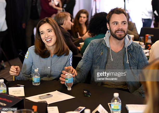 Actors Marina Squerciati and Patrick John Flueger are interviewed as they attend a press junket for NBC's 'Chicago Fire' 'Chicago PD' and 'Chicago...
