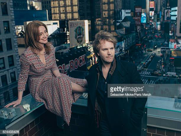 Actors Marine Delterme and Florian Zeller are photographed for Paris Match on April 14 2016 in New York City