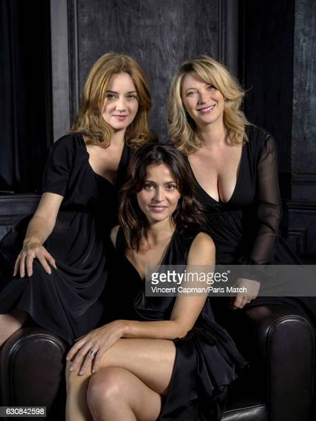 Actors Marine Delterme Anne Charrier and Cecile Bois are photographed for Paris Match on October 16 2016 in Paris France