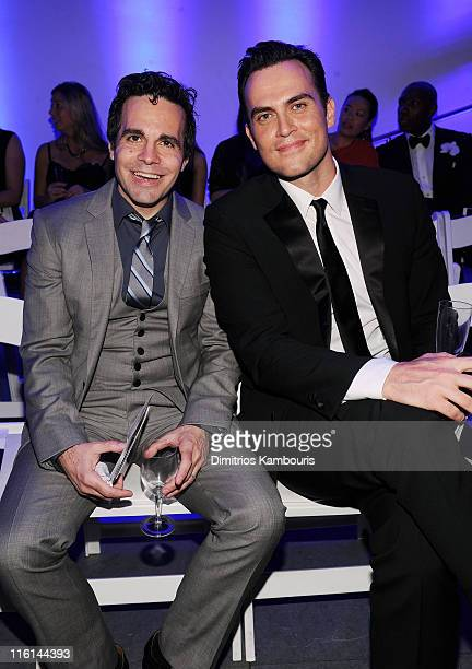 Actors Mario Cantone and Cheyenne Jackson attend the 2nd Annual amfAR Inspiration Gala at The Museum of Modern Art on June 14 2011 in New York City