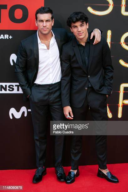 Actors Mario Casas and his brother Oscar Casas attend Instinto premiere by Movistar at Callao Cinema on May 09 2019 in Madrid Spain
