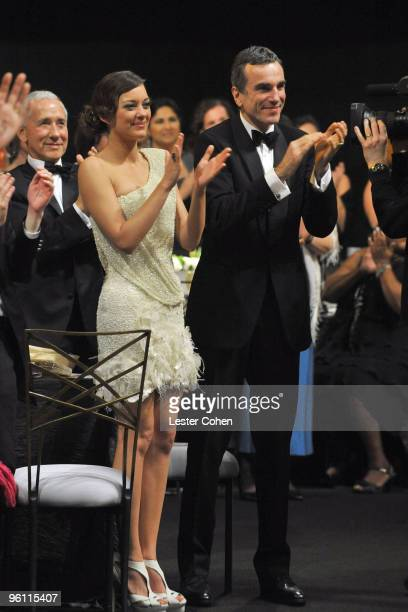 Actors Marion Cotillard and Daniel DayLewis attend the TNT/TBS broadcast of the 16th Annual Screen Actors Guild Awards at the Shrine Auditorium on...