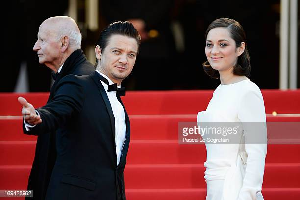 Actors Marion Cotillard and Jeremy Renner attend the 'The Immigrant' premiere during The 66th Annual Cannes Film Festival at the Palais des Festivals...