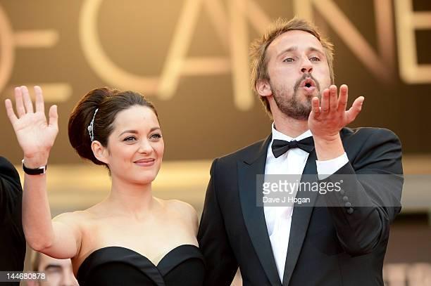 Actors Marion Cotillard and Matthias Schoenaerts attend the De Rouille et D'os Premiere during the 65th Annual Cannes Film Festival at Palais des...