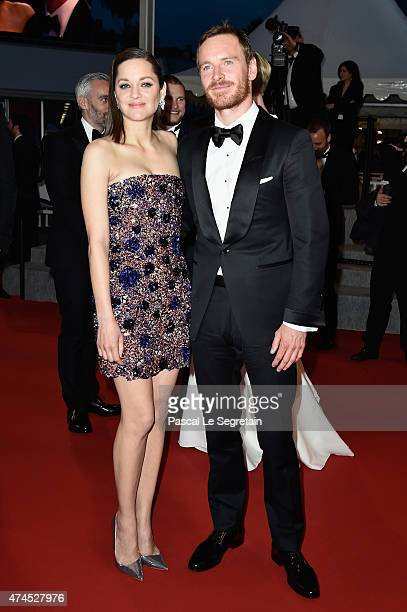"""Actors Marion Cotillard and Michael Fassbender attend the """"Macbeth"""" Premiere during the 68th annual Cannes Film Festival on May 23, 2015 in Cannes,..."""
