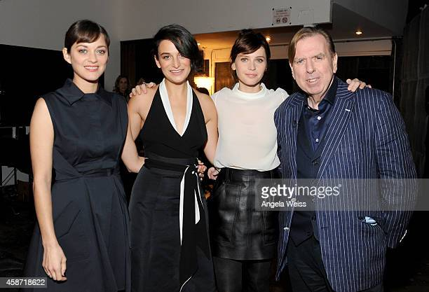 Actors Marion Cotillard Jenny Slate Felicity Jones and Timothy Spall attend day two of Variety Studio Actors On Actors presented by Samsung Galaxy on...