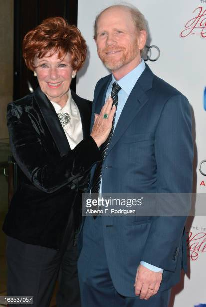 Actors Marion Ross and Ron Howard attend the Academy of Television Arts & Sciences' 22nd Annual Hall of Fame Induction Gala at The Beverly Hilton...
